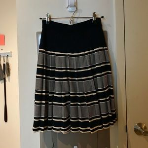 Tory Burch dark navy cotton thick knit skirt